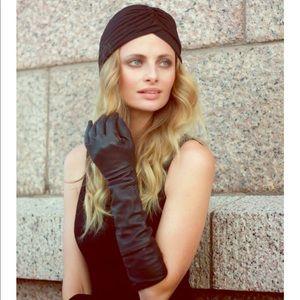 Zara black turban hat